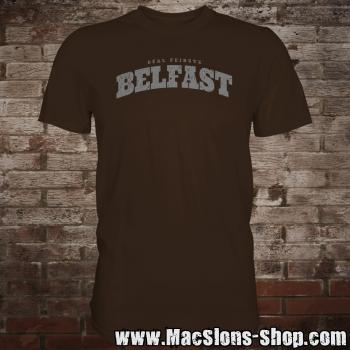 "Cities Of Ireland ""Belfast"" T-Shirt (brown/grey)"